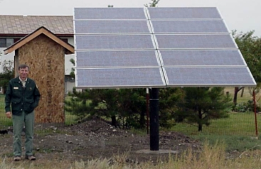 pole-mounted PV system